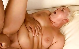 chunky granny getting her fur pie fucked gorgeous