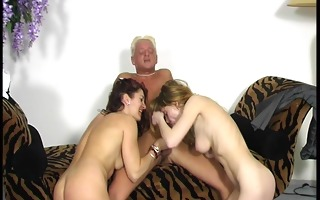 sexually excited beauties take care of one horny
