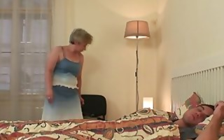 concupiscent granny seduces him but wife finds