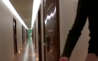 anal pounding in a hotel hallway