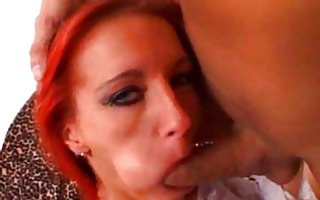 flaming redhead with her gazoo stuffed