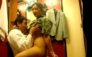 oriental amateur sex in dressing room