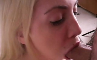 deep oral stimulation from busty blonde whore 2