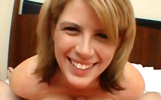 sexy golden-haired oral-service with facial