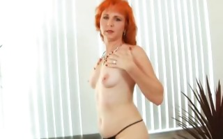redhead milf bonks hairy pussy