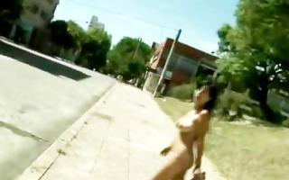 breasty latin babe enjoying the park part3