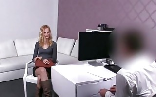 czech chick jenny screwed for a fake job