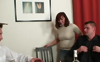poker playing granny swallowing large jocks