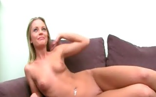 sexually excited blonde having sex with fake agent