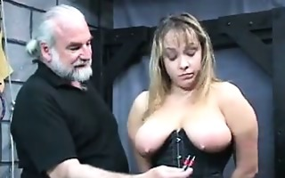 breasty slave in the dungeon