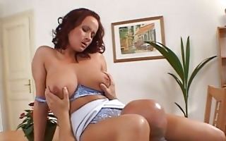 amazing glamorous hot redhead playgirl with big