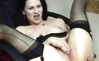 dark brown chick smokin masturbating on cam