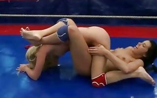wild youthful girls fighting