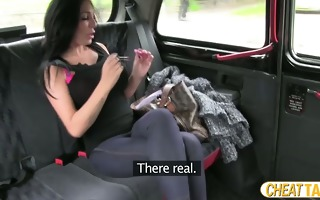 breasty euro honey receives screwed in taxi and